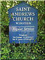 TM1861 : Saint Andrews Church sign by Adrian Cable