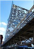 SP0686 : The Cube and footbridge by Mat Fascione