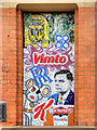 SJ8498 : Manchester Icons in Tile Mosaic by David Dixon