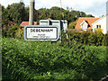 TM1762 : Debenham Village Name sign by Adrian Cable