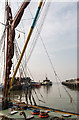 "TR1067 : Thames Sailing Barge ""Greta"",  Whitstable, Kent by Christine Matthews"