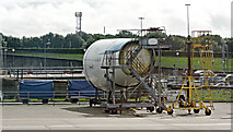 TL5523 : Aircraft mock-up at Stansted Airport by Thomas Nugent