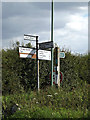 TM1762 : Roadsign on the B1077 Winston Road by Geographer