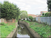 TQ2992 : Pymme's Brook east of Wilmer Way, N14 by Mike Quinn