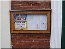 TM1763 : Debenham United Reformed Church Notice Board by Adrian Cable