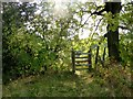 SD7412 : Gate on a footpath by Philip Platt