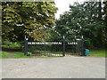 TM1763 : Debenham Millennium Gates to Priory Lane by Geographer