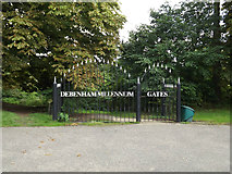 TM1763 : Debenham Millennium Gates to Priory Lane by Adrian Cable