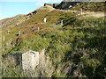 SE0610 : Old army firing range boundary stone, Marsden by Humphrey Bolton