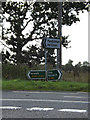TM1163 : Roadsigns on the A140 Norwich Road by Adrian Cable