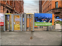 SJ8397 : Welcome to Manchester - Access Restricted by David Dixon