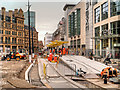 SJ8398 : Construction of New Metrolink Stop at Exchange Square by David Dixon