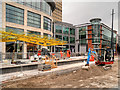 SJ8398 : Exchange Square Metrolink Stop (October 2015) by David Dixon
