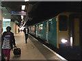 SP0686 : The train to Aberystwyth at Birmingham New Street by Robin Stott