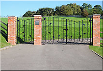 ST0107 : Cullompton: new gates to town cemetery by Martin Bodman