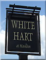 TL0538 : Sign for the White Hart at Maulden by JThomas