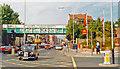 TQ3188 : Northward on Green Lanes at Harringay Green Lanes station, 1993 by Ben Brooksbank
