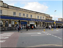 SX9193 : Exeter St Davids station entrance by Jaggery