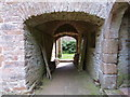 SX8664 : Walkway through to the area between the inner and outer walls, Compton Castle by Derek Voller