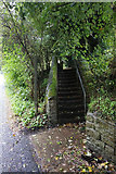 NZ0415 : Steps leading to Holy Trinity Church by Ian S