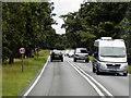TL8680 : Southbound A134 Passing Barnham Camp by David Dixon