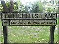 SU9792 : Sign on Twitchells Lane, Jordans by David Howard