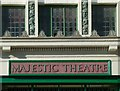 SK7080 : Majestic Theatre, Retford – detail by Alan Murray-Rust