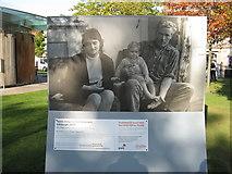 NT2574 : Family living in a slum tenement.  by M J Richardson