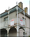 SN5882 : Ironwork, former County Court, Morfa Mawr/Queen's Road, Aberystwyth by Robin Stott