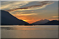 NN0959 : Sunset over Loch Leven by Nigel Brown
