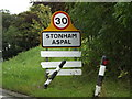 TM1359 : Stonham Aspal Village Name sign by Adrian Cable