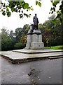 NT0887 : Statue of Andrew Carnegie, Pittencrieff Park by Stanley Howe
