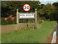 TM2263 : Earl Soham Village Name sign by Adrian Cable