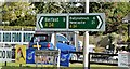 J3560 : Direction signs, The Temple Crossroads - October 2015(2) by Albert Bridge