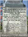 NZ2664 : Inscription on the rear of the plinth of the statue of W L Blenkinsop Coulson, Horatio Street, NE1 by Mike Quinn