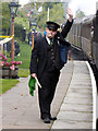 SO7680 : Guard at Arley Station by Chris Allen