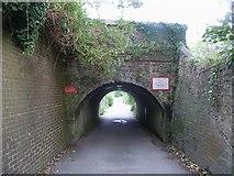 TQ4109 : Low railway bridge, Southover, Lewes by Rob Farrow