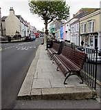 SW7834 : Town centre benches, Penryn by Jaggery