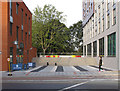 TQ2081 : Woodward Hall, Imperial College, open square and bar by David Hawgood