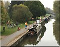 SJ8550 : Trent and Mersey Canal: Oatcake Takeaway Boat by Jonathan Hutchins