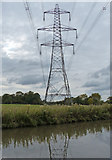 SK1409 : Electricity pylon next to the Coventry Canal by Mat Fascione
