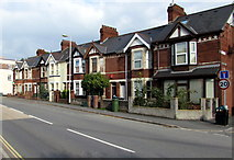 SX9193 : Row of houses, Bonhay Road, Exeter by Jaggery
