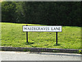 TM0213 : Waldegraves Lane sign by Adrian Cable