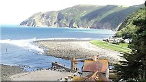 SS7249 : Lynmouth and the cliffs by Oliver Mills