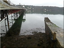 SH5873 : Bangor Pier and the stone jetty by Oliver Mills