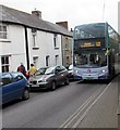 SW7834 : Tight squeeze on Helston Road, Penryn by Jaggery