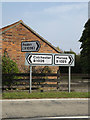 TM0015 : Roadsigns on the B1025 Colchester Road by Adrian Cable