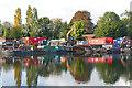 TQ1067 : Industrial yard, Wheatley's Eyot by Alan Hunt