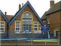 SP0488 : Benson Community School – detail by Alan Murray-Rust