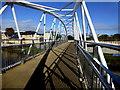 H4572 : Shadows along the new footbridge, Omagh by Kenneth  Allen